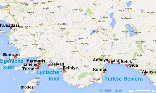Turkije Badplaatsen En Vakantieresorts Alanya Antalya Belek